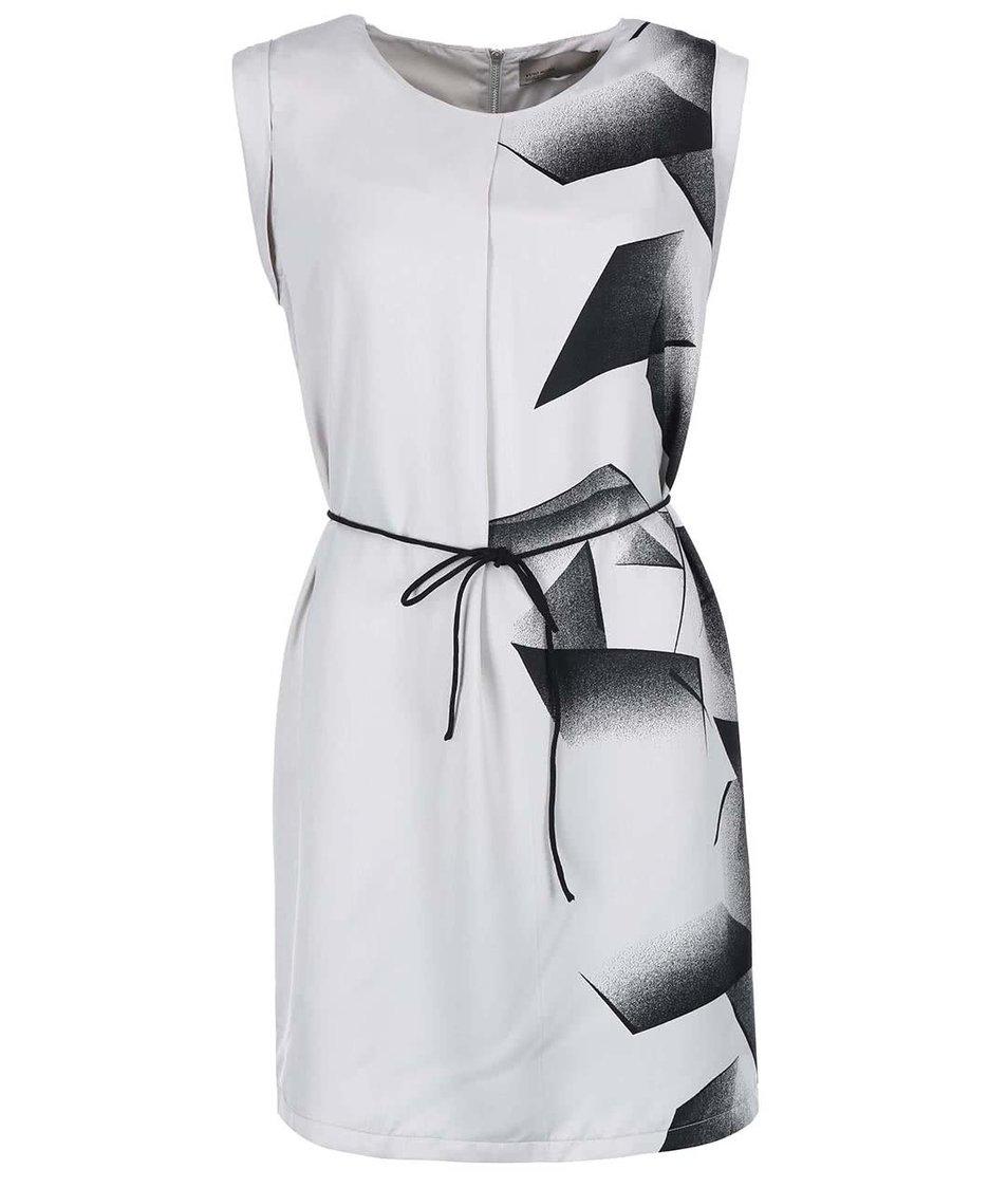 Černo-šedé šaty bez rukávů Vero Moda Lin
