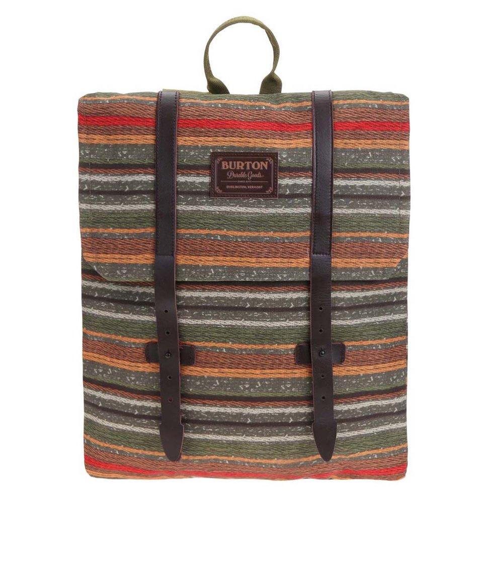 Zelený dámský batoh s barevnými pruhy Burton WMS Taylor