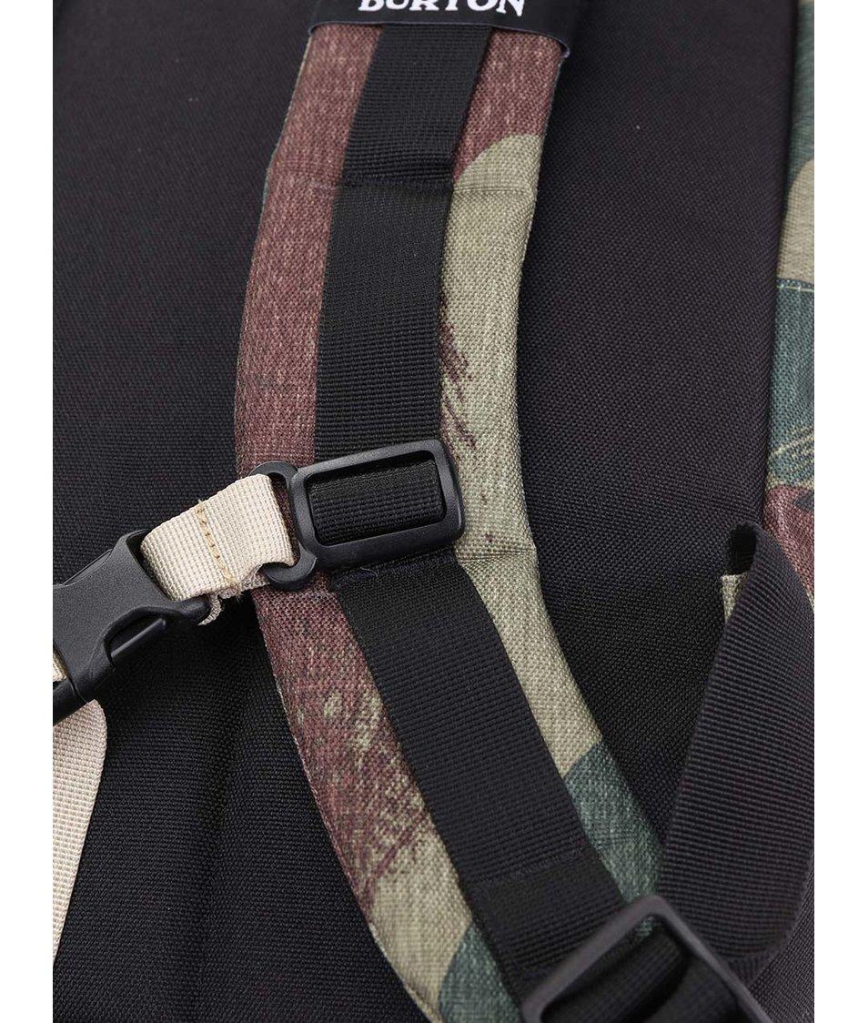 Černo-zelený unisex batoh s maskáčovým vzorem Burton Kettle