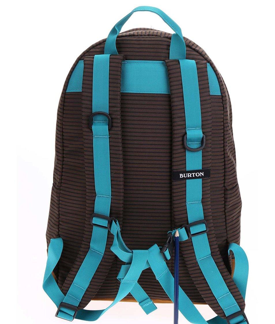 Tyrkysovo-hnědý unisex batoh s pruhy Burton Kettle