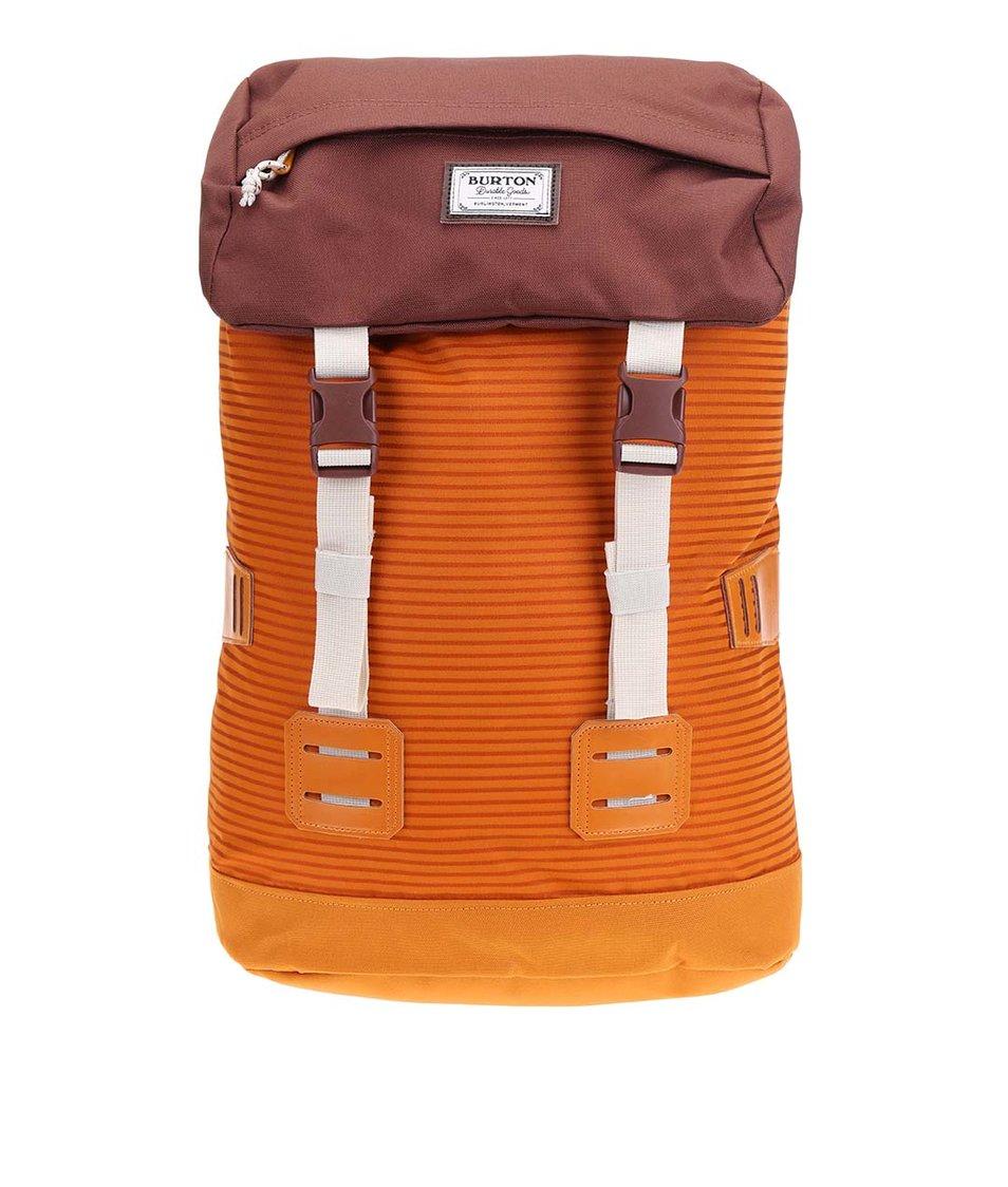 Hnědo-oranžový unisex batoh s pruhy Burton Tinder
