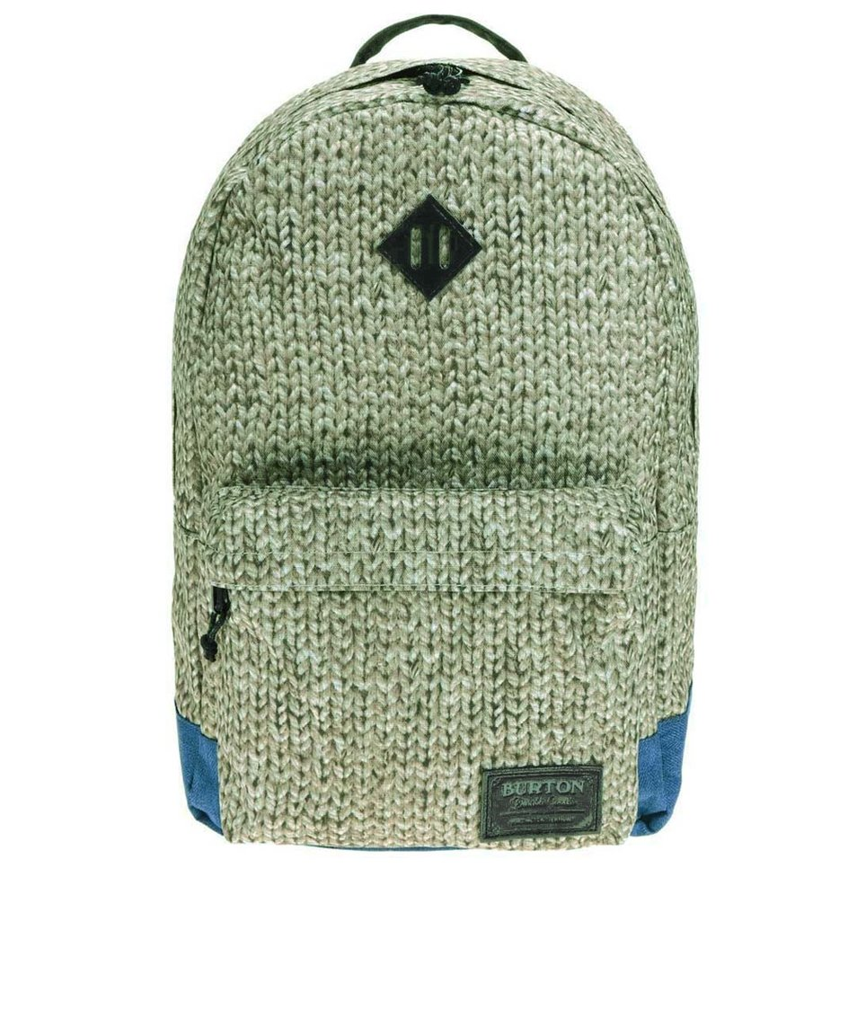 Zelený unisex batoh s pleteným vzorem Burton Kettle