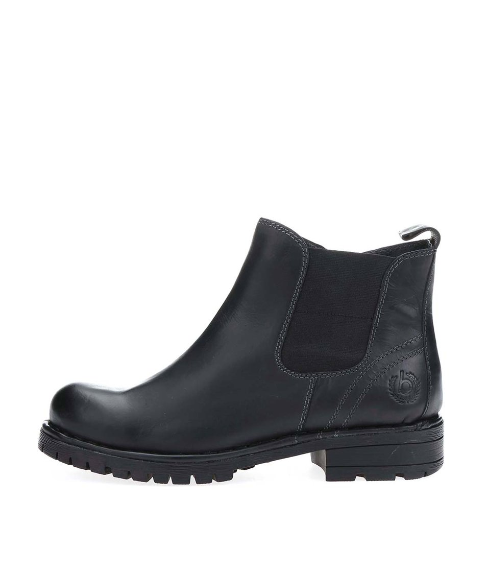 Černé dámské kožené kotníkové boty bugatti Jacky