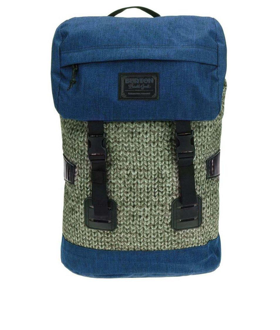 Modro-zelený unisex batoh s pleteným vzorem Burton Tinder