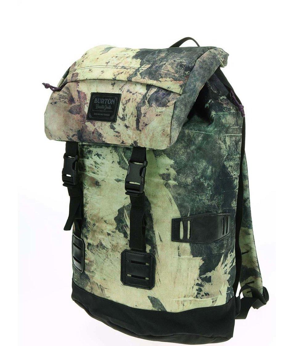 Černo-zelený unisex batoh se vzorem Burton Tinder