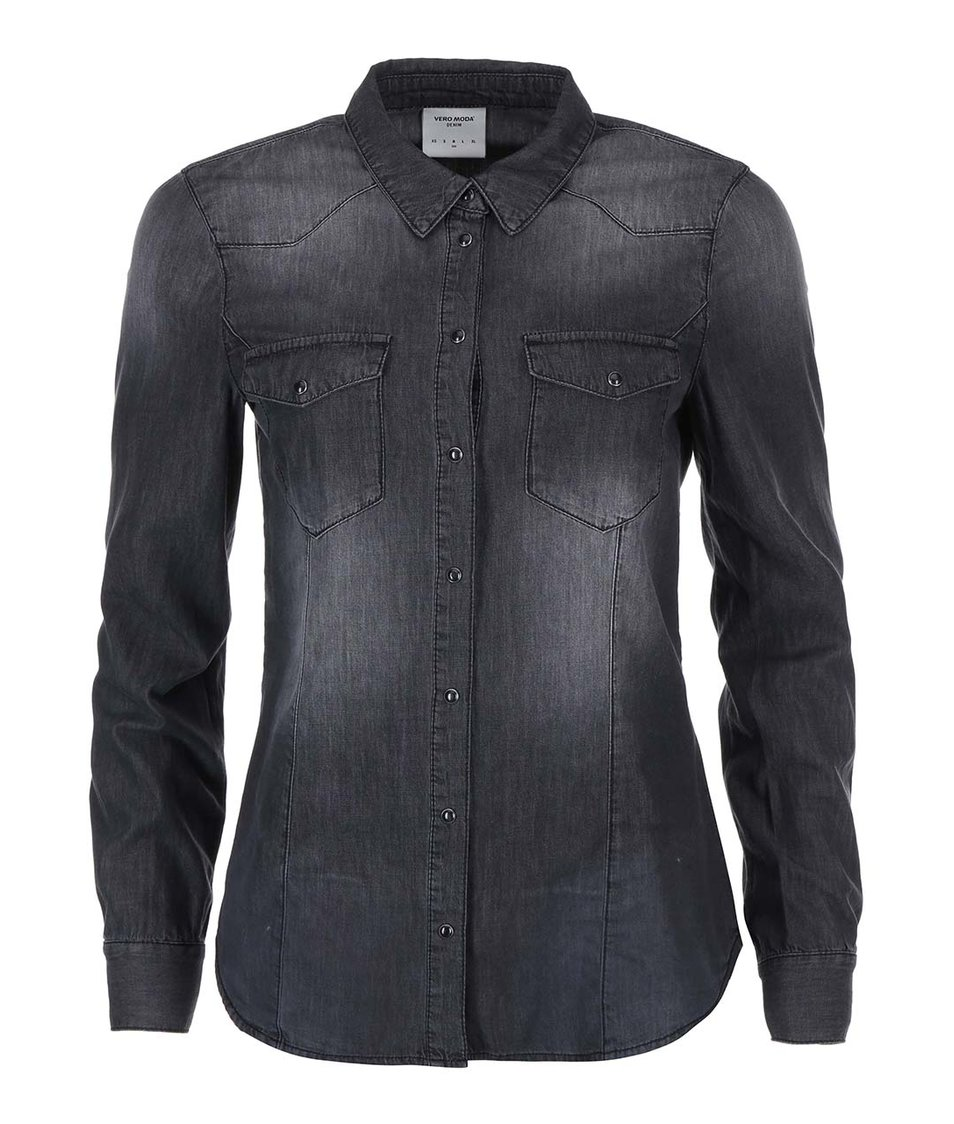 Černá denimová košile Vero Moda Vera