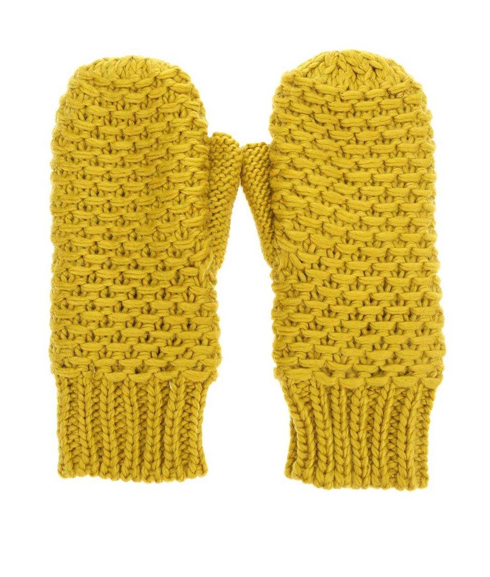 Tmavě žluté palčáky Pieces Mansi