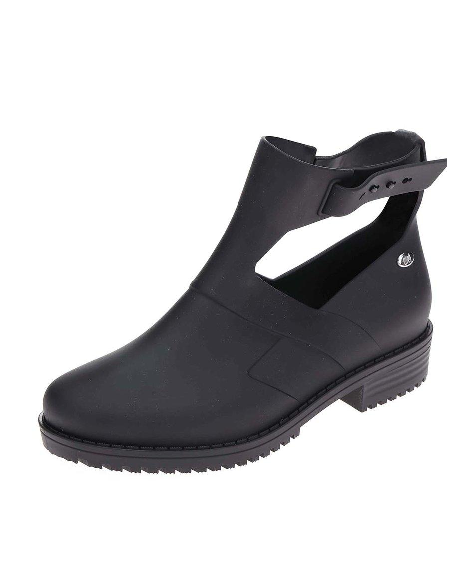 Černé otevřené kotníkové boty Mel Open Boot