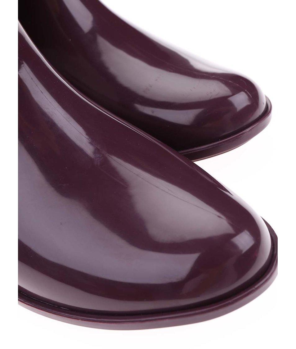 Vínové nízké holínky s křídly Mel Goji Berry II