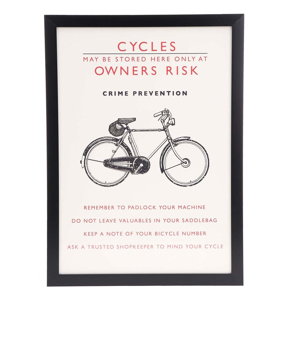 Retro obrázek na stěnu Rex Bicycle Safety