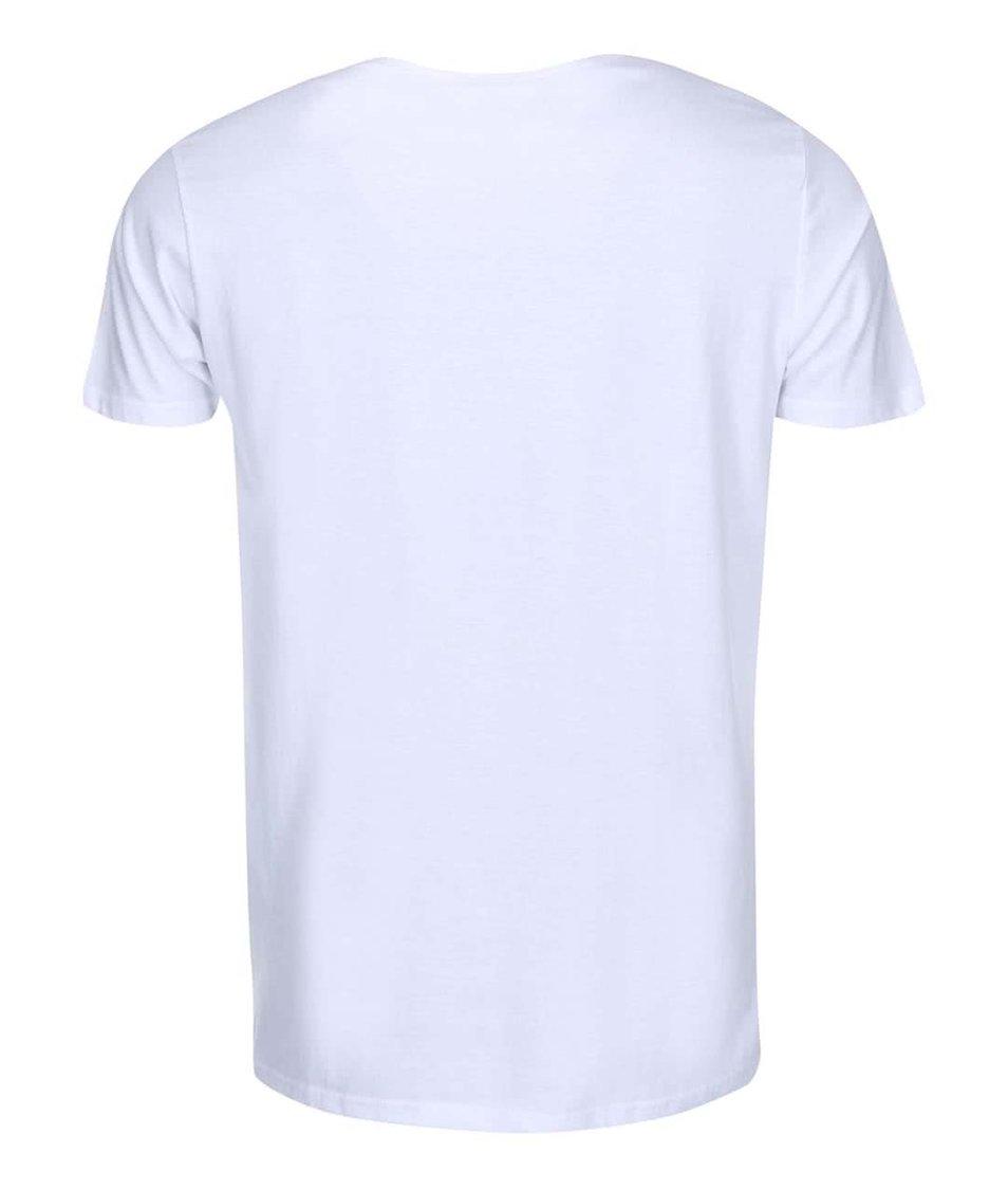 Bílé triko s potiskem Shine Original