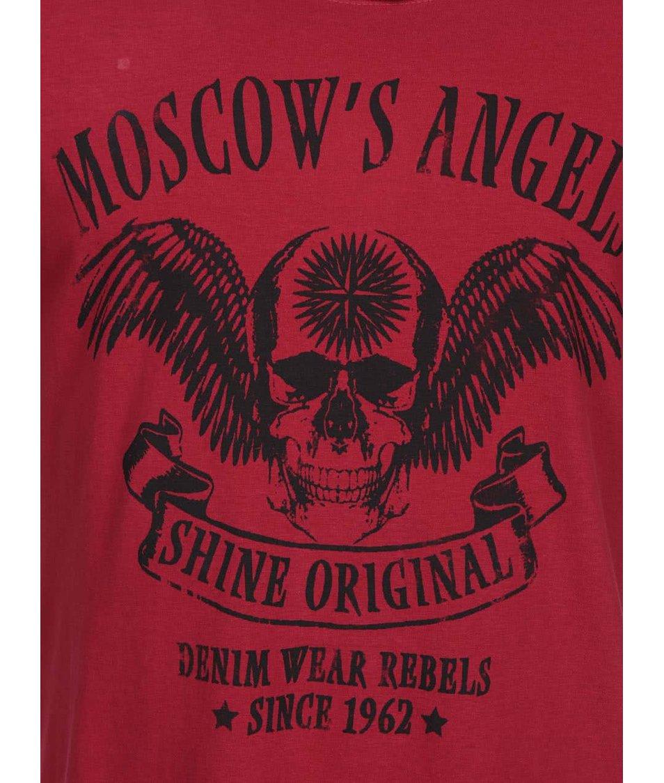 Vínové triko s potiskem Shine Original