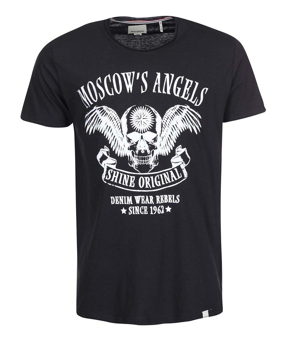 Černé triko s potiskem Shine Original