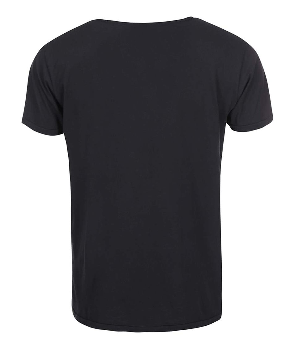 Černé triko Shine Original Curved