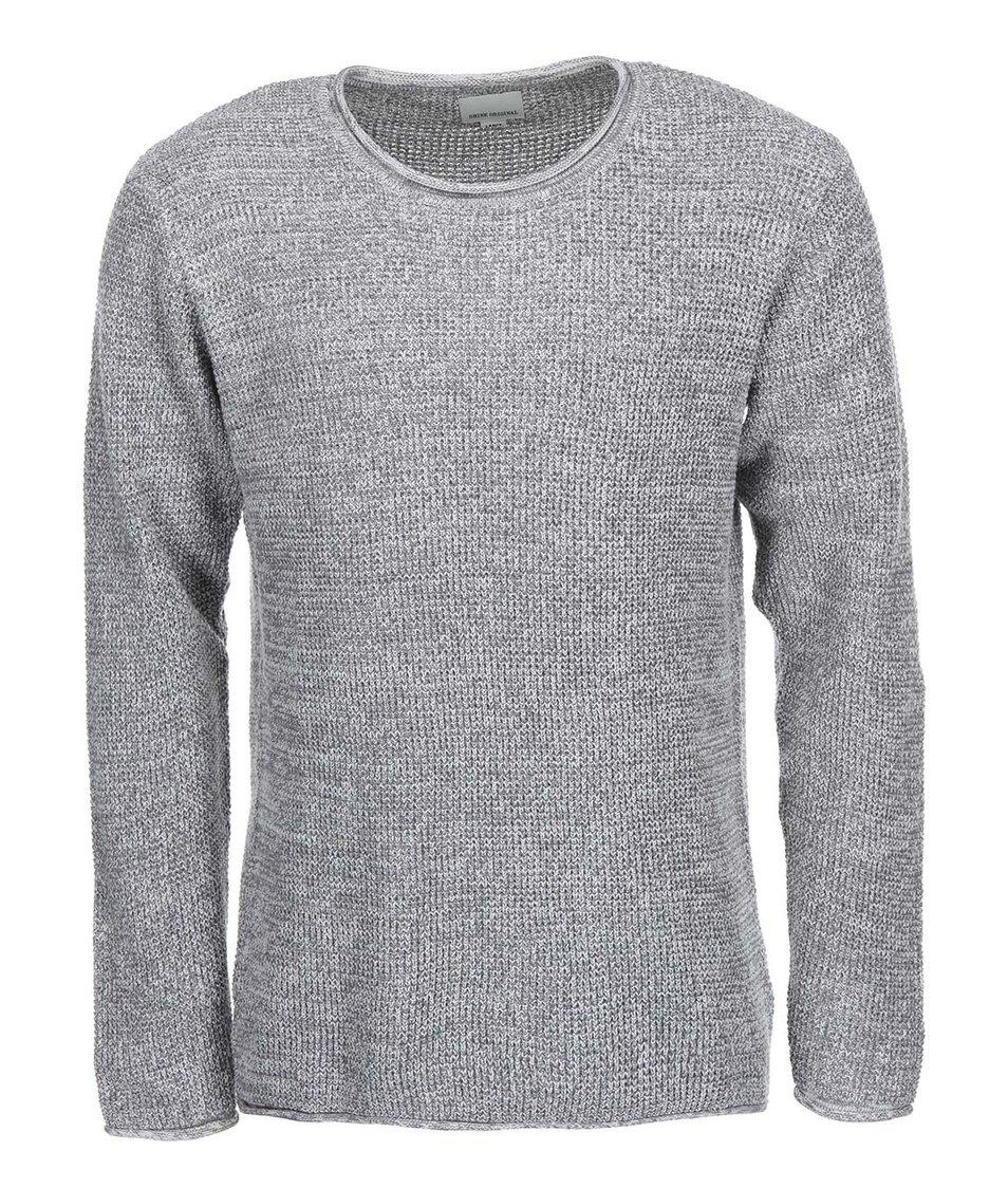 Bílo-šedý žíhaný svetr Shine Original
