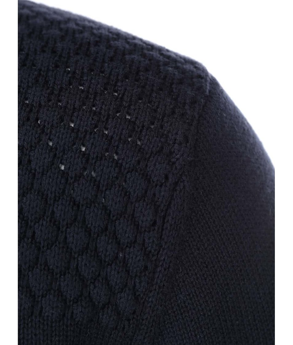 Tmavě modrý svetr se zipem Shine Original