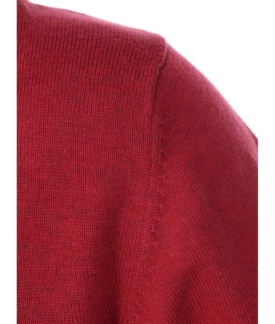 Červený svetr s výstřihem do V Shine Original