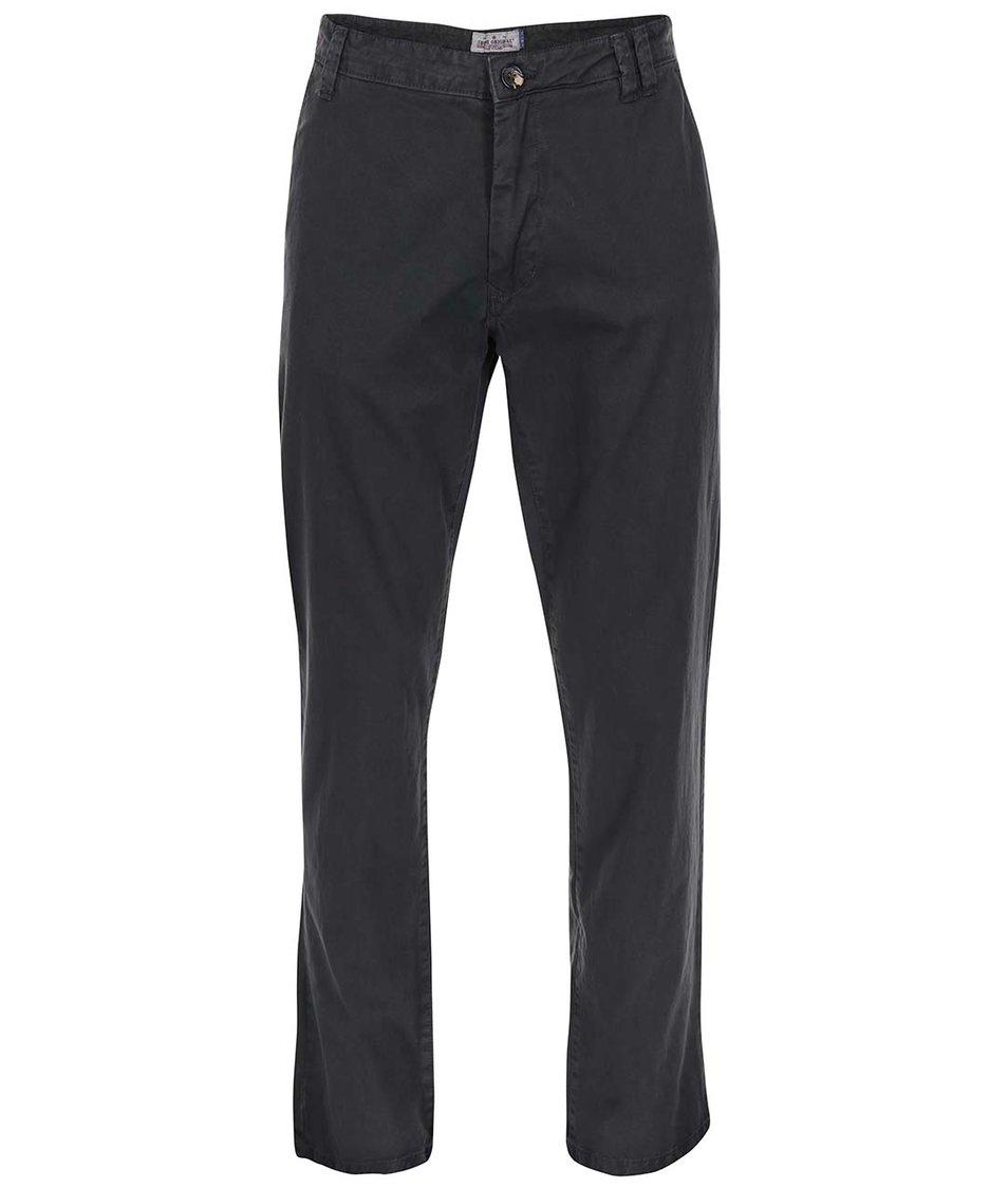 Tmavě šedé chino kalhoty Shine Original