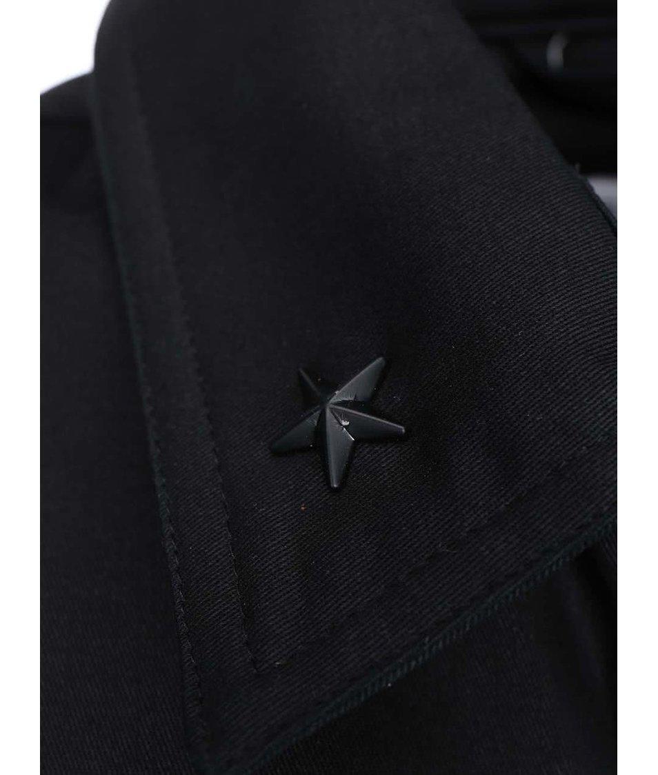 Černá bunda s kapsami Shine Original