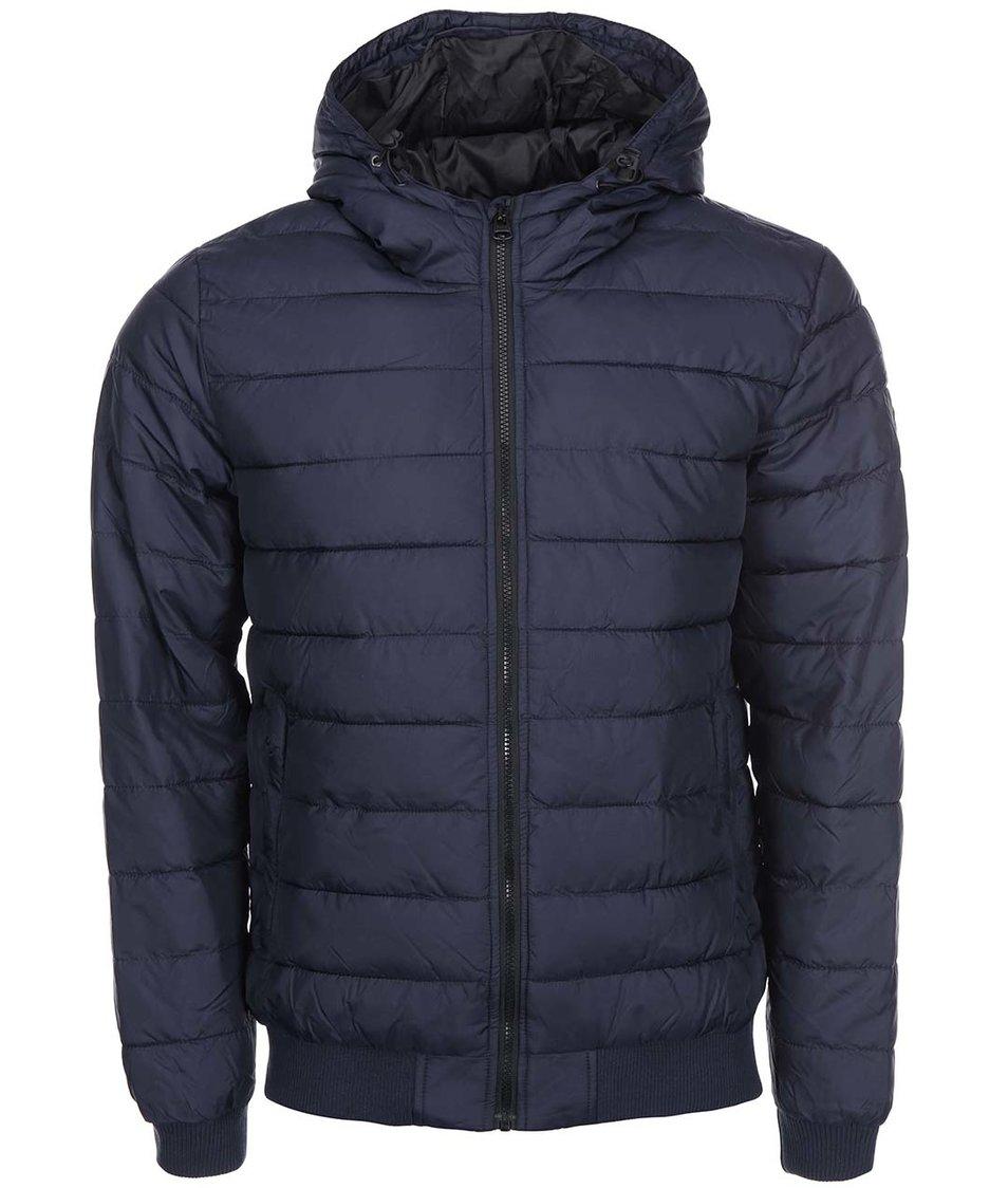 Tmavě modrá příčně prošívaná bunda Shine Original