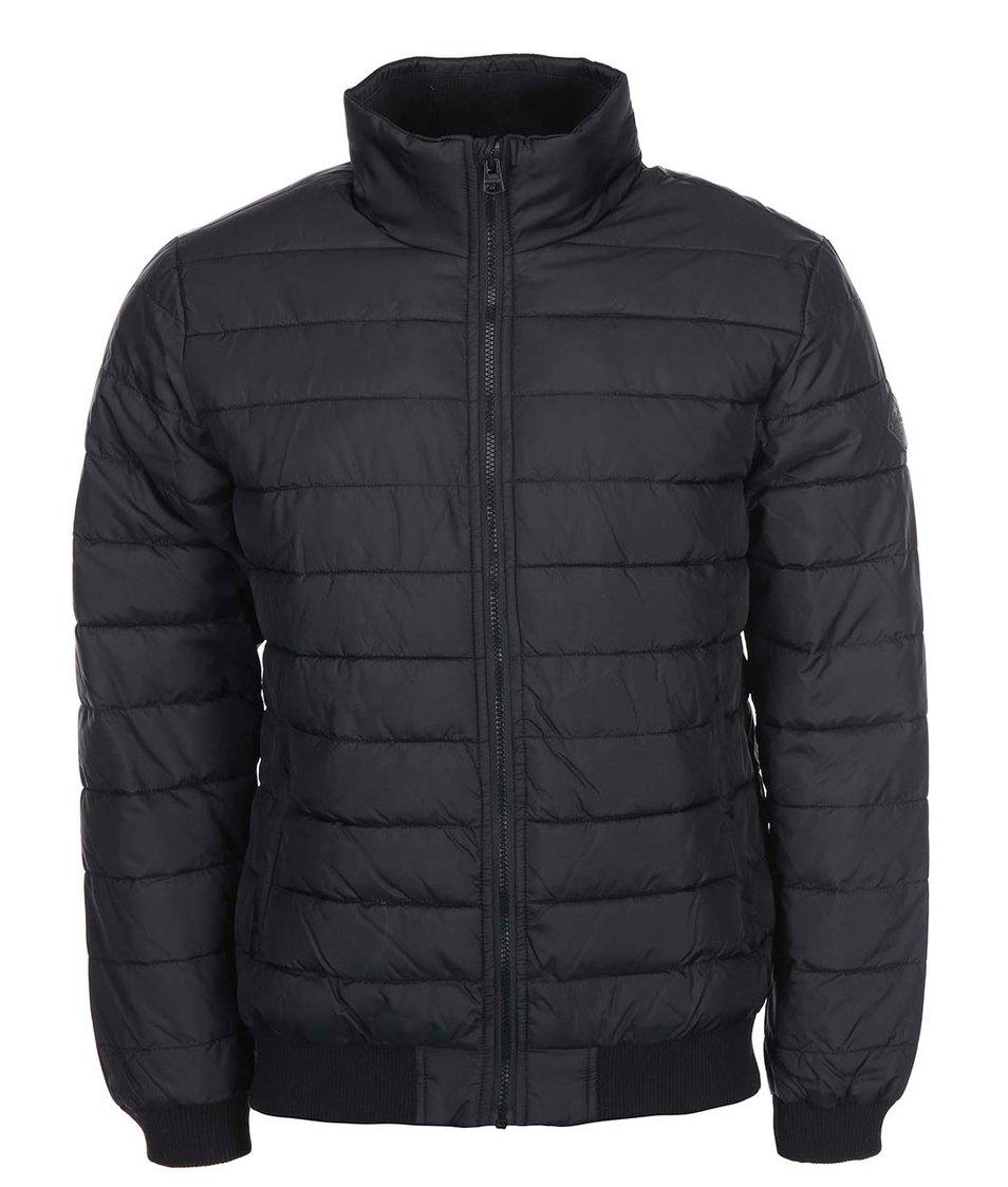 Černá příčně prošívná bunda Shine Original