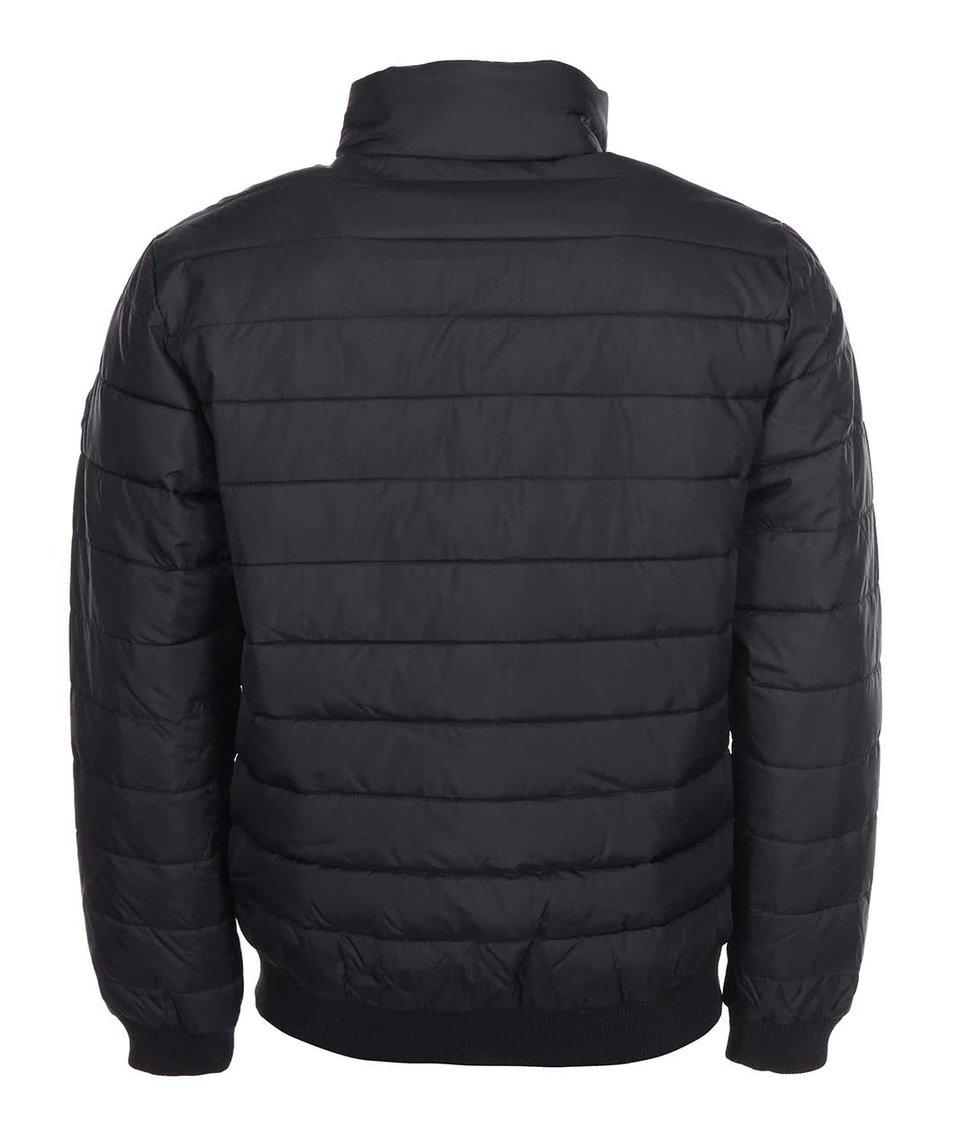 6c4032264b Černá příčně prošívná bunda Shine Original Černá příčně prošívná bunda  Shine Original ...