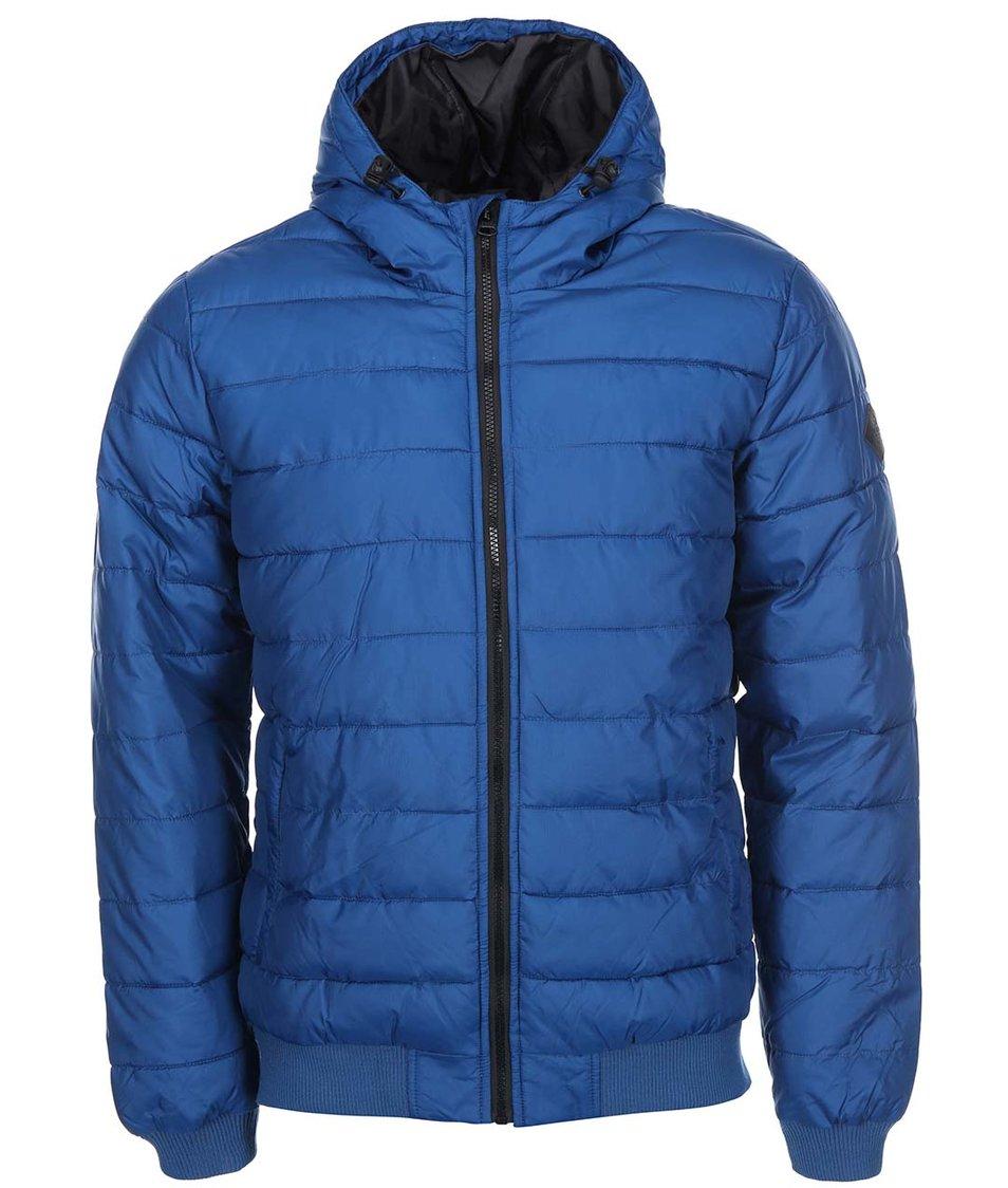 Modrá příčně prošívná bunda Shine Original