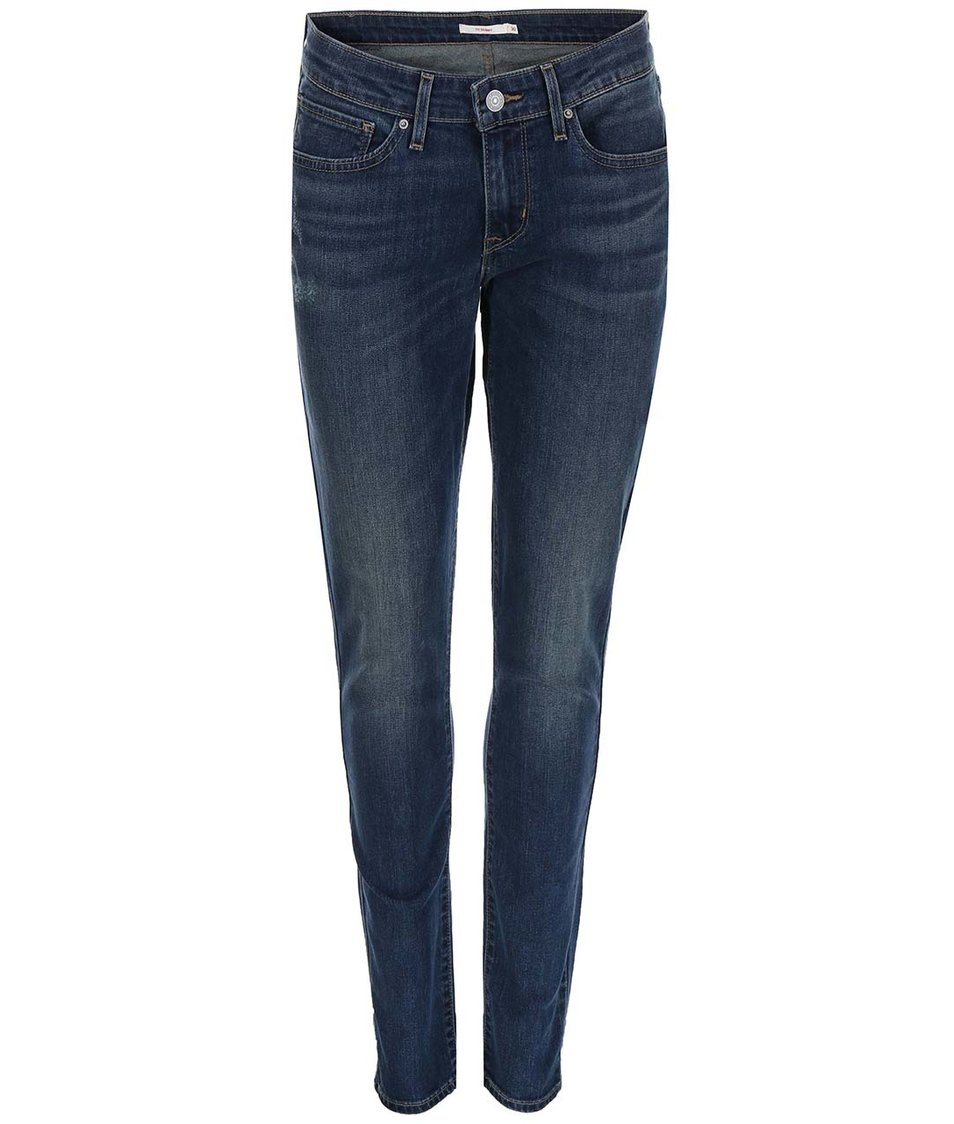 Modré dámské vyšisované skinny džíny Levi's®
