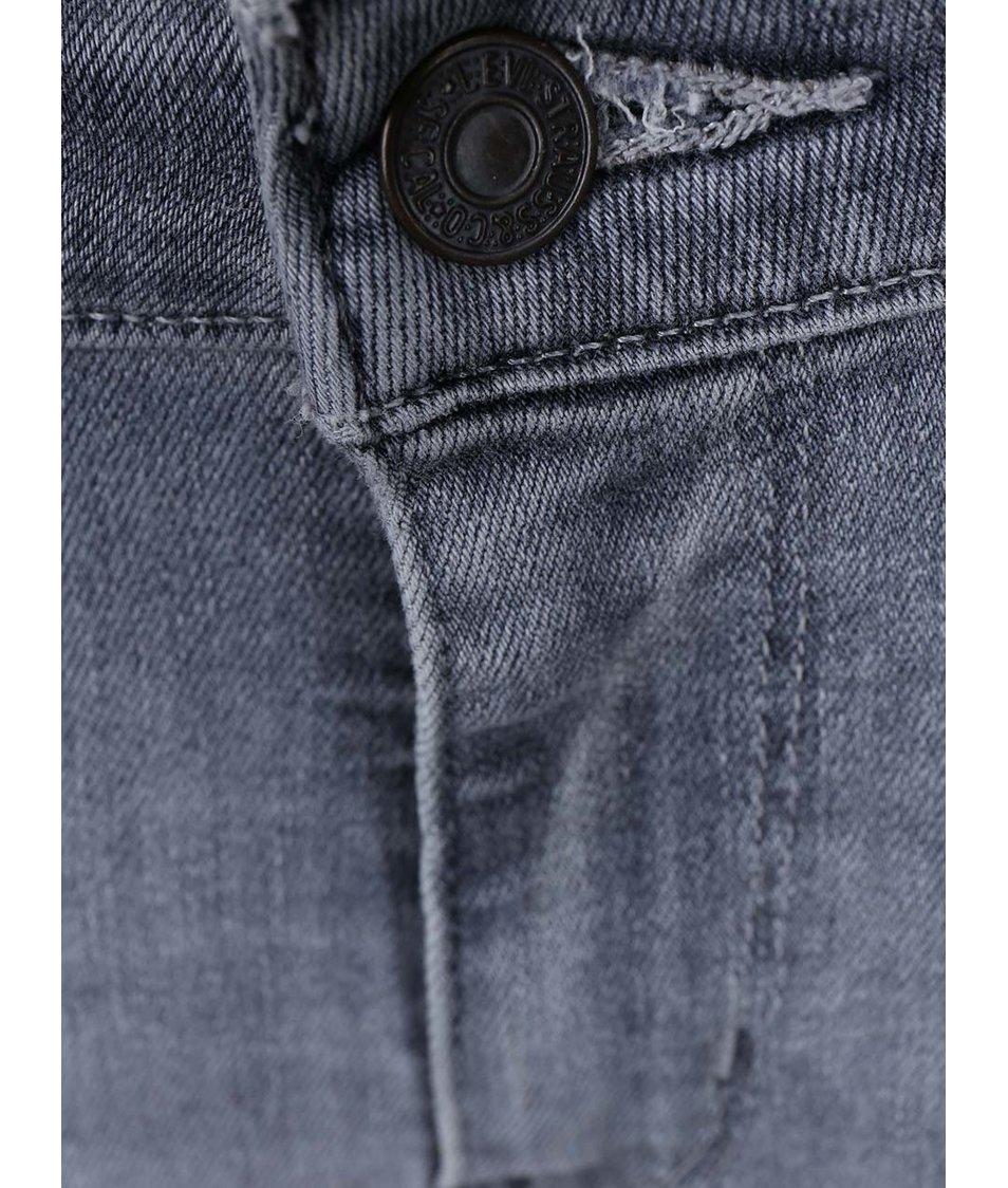 Šedé dámské vyšisované skinny džíny Levi's®
