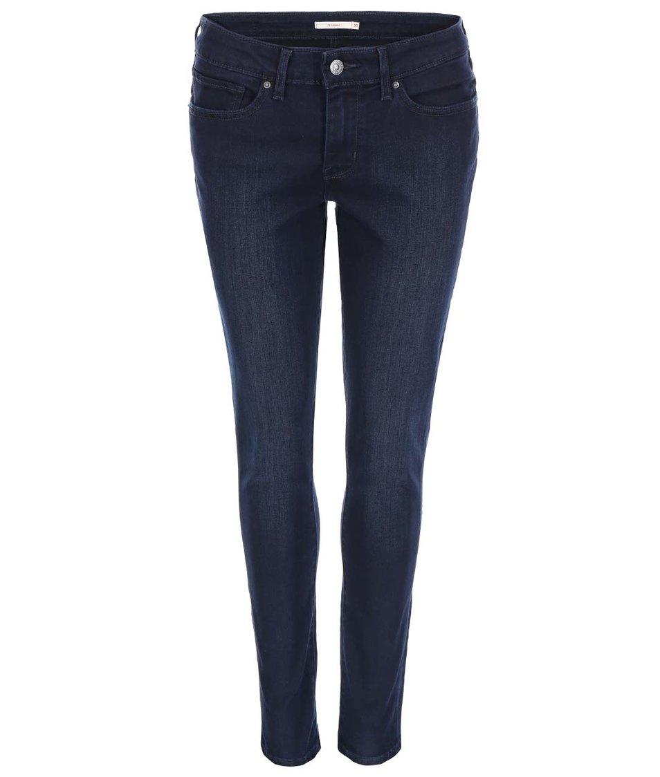 Tmavě modré dámské vyšisované skinny džíny Levi's®