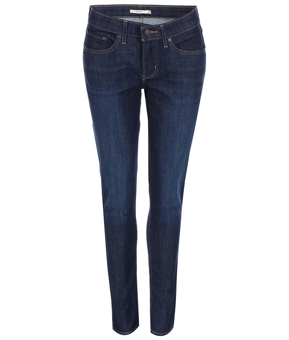 Tmavě modré dámské skinny džíny s vyšisováním Levi's®
