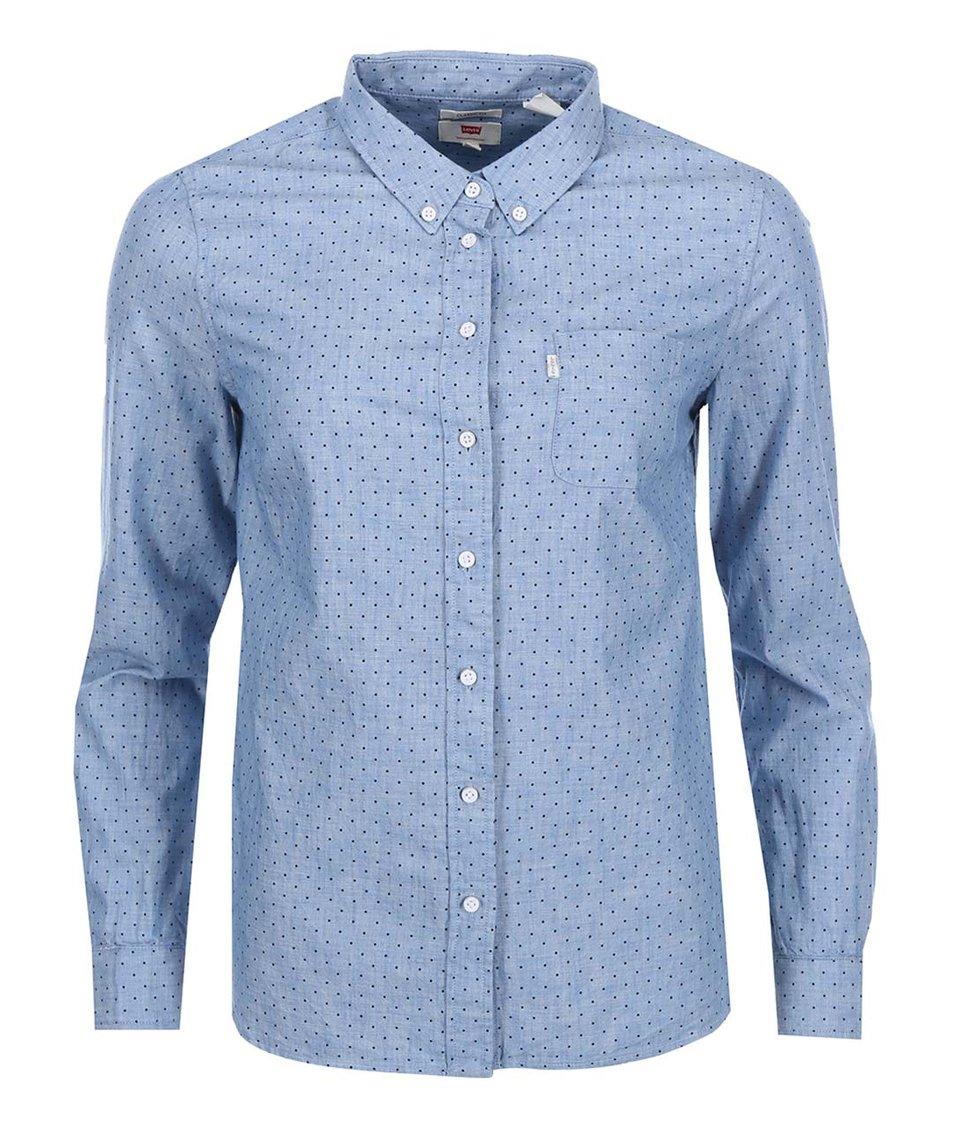 Modrá dámská džínová košile s puntíky Levi's®