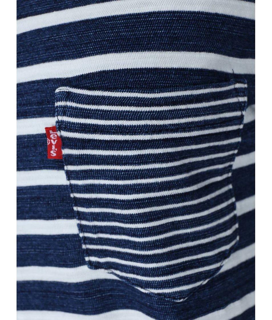 Bílo-modré dámské pruhované tričko Levi's®