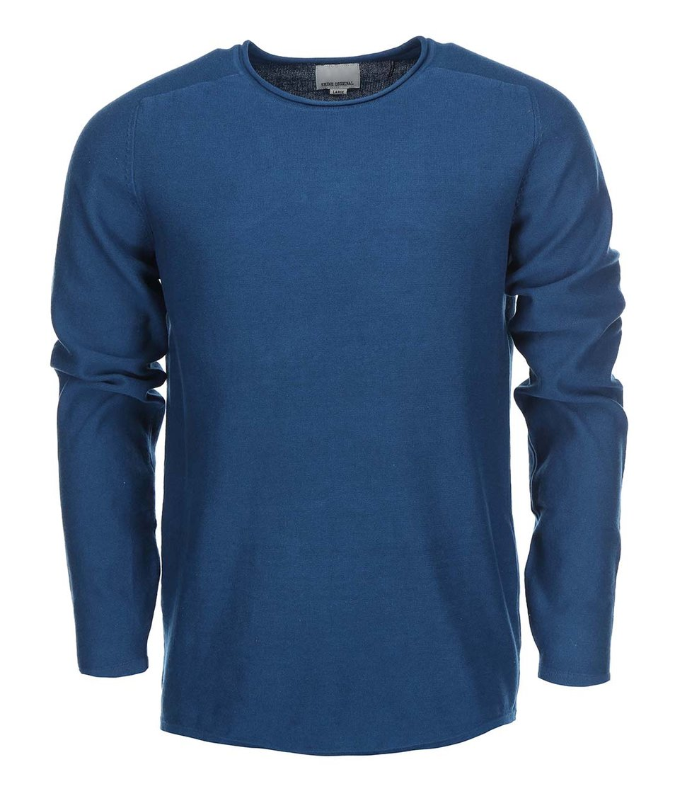 Modrý svetr Shine Original Raglan