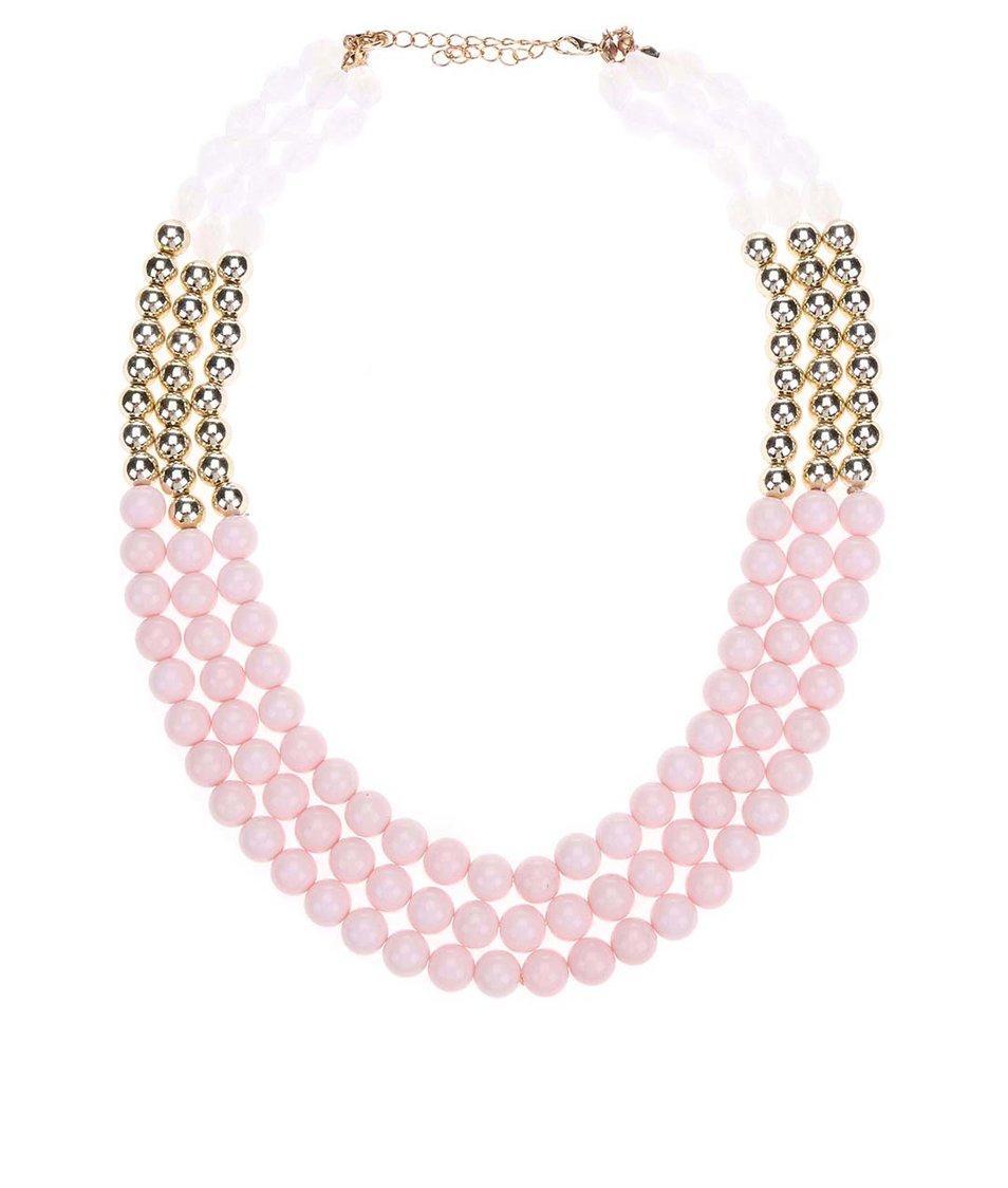 Růžový korálkový náhrdelník Madonna Alina