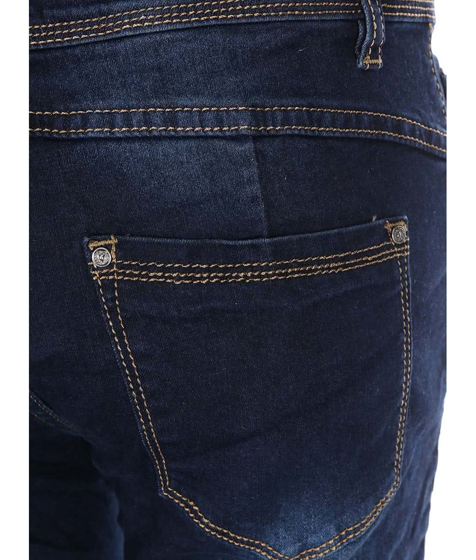 Tmavě modré džíny s ozdobnými knoflíky Haily´s Ally
