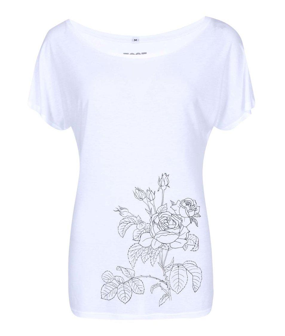 Bílé dámské triko ZOOT Originál Růže
