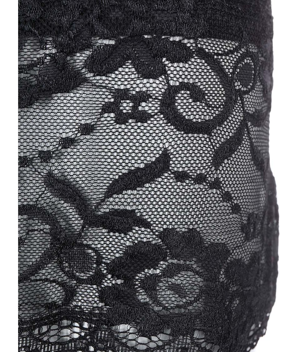 Černé delší tílko s krajkovým lemem Haily´s Melinda