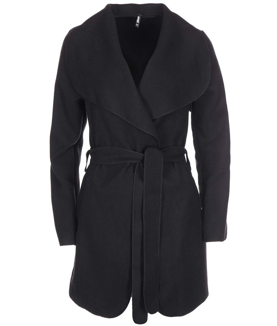 Černý kabát na zavazování Haily´s Silvie