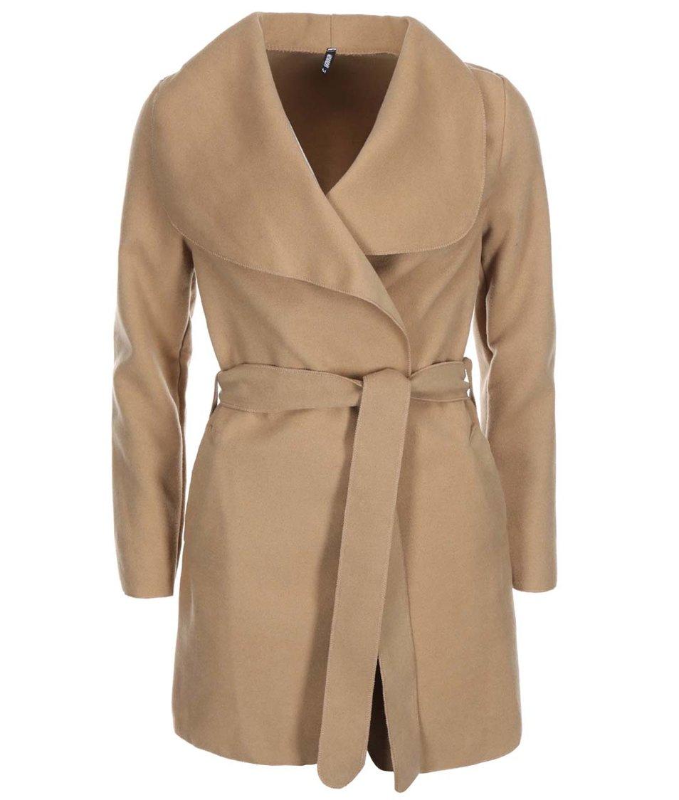 Béžový kabát na zavazování Haily´s Silvie