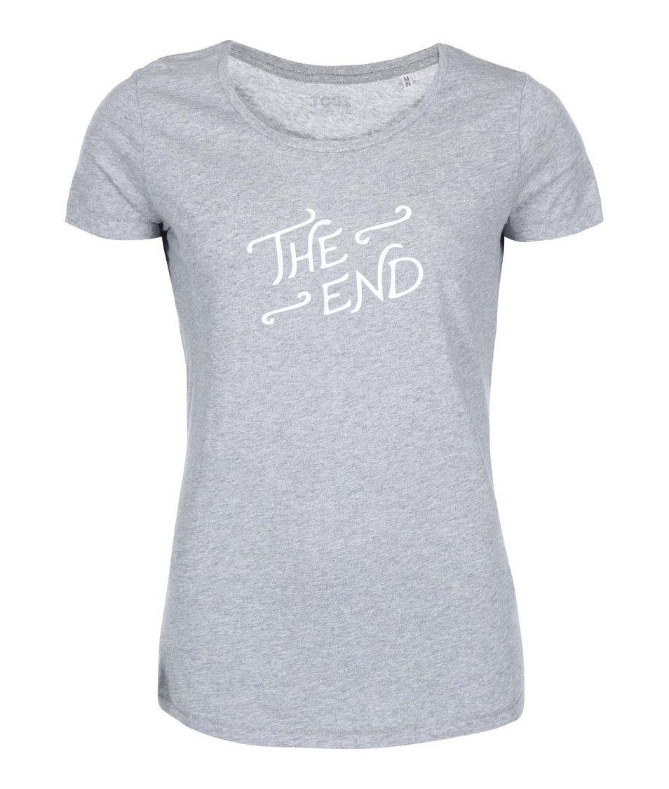 Šedé dámské tričko ZOOT Originál The End