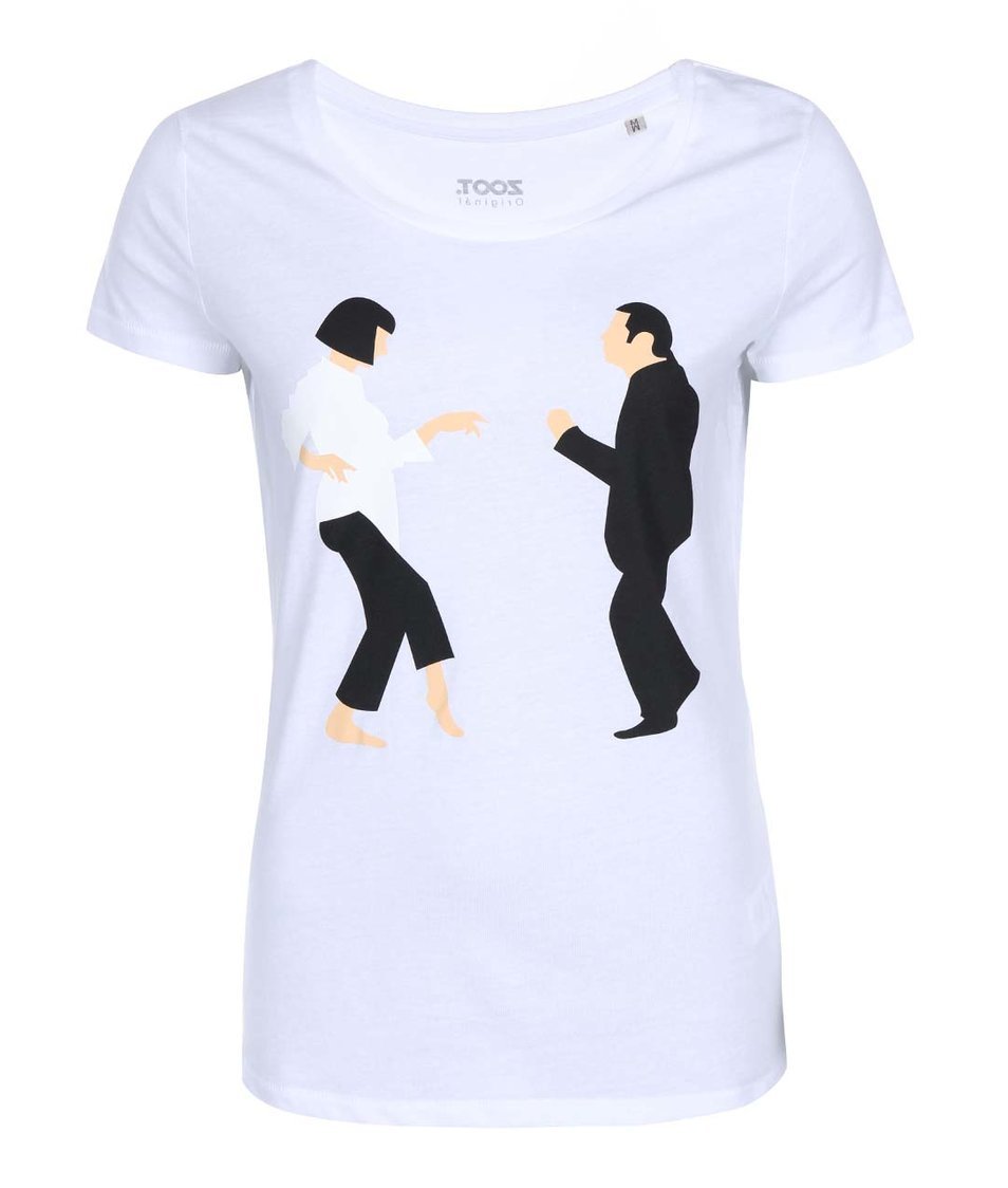 Bílé dámské tričko ZOOT Originál Pulp Ficiton