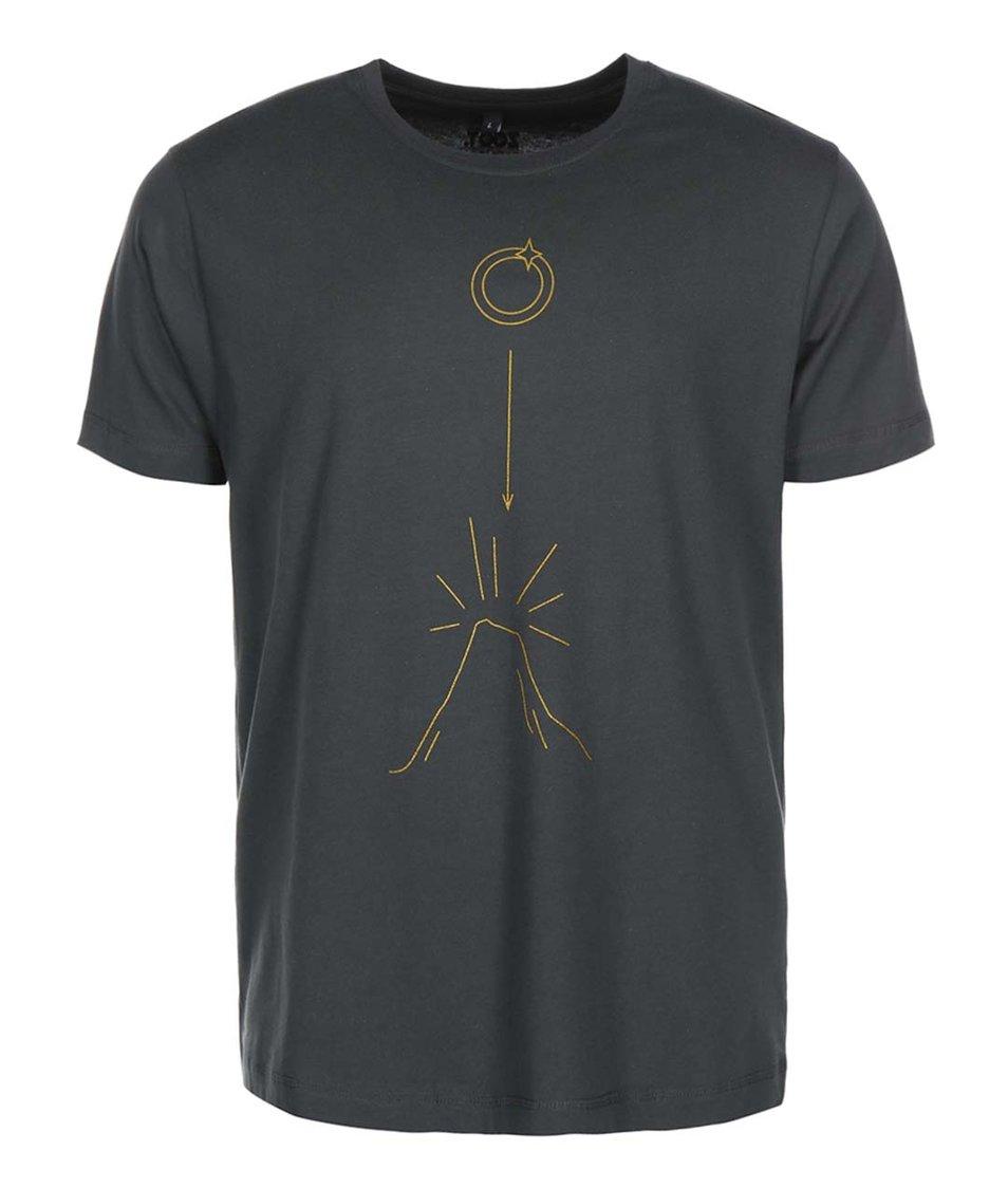Šedé pánské triko ZOOT Originál Pán Prstenů