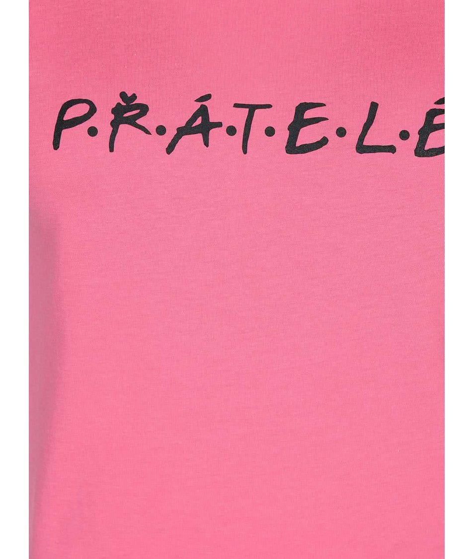 Růžové dámské tričko ZOOT Originál Přátelé