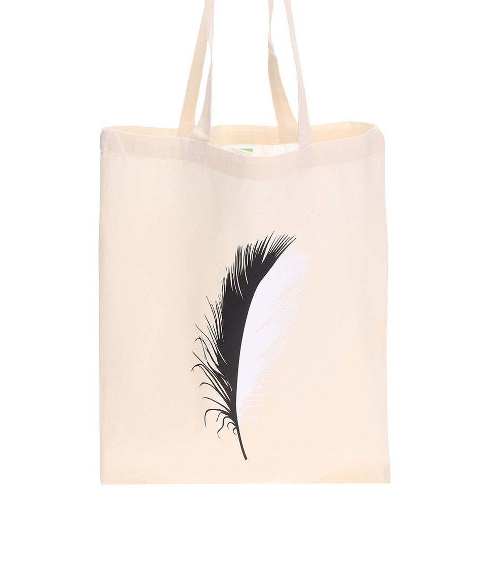 Krémová plátěná taška ZOOT Originál Black Swan