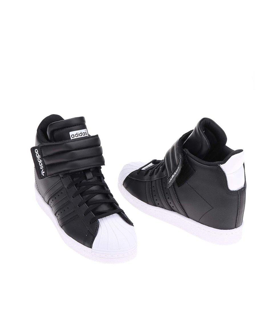 Černé dámské tenisky se skrytým klínkem adidas Originals Superstar UP Strap