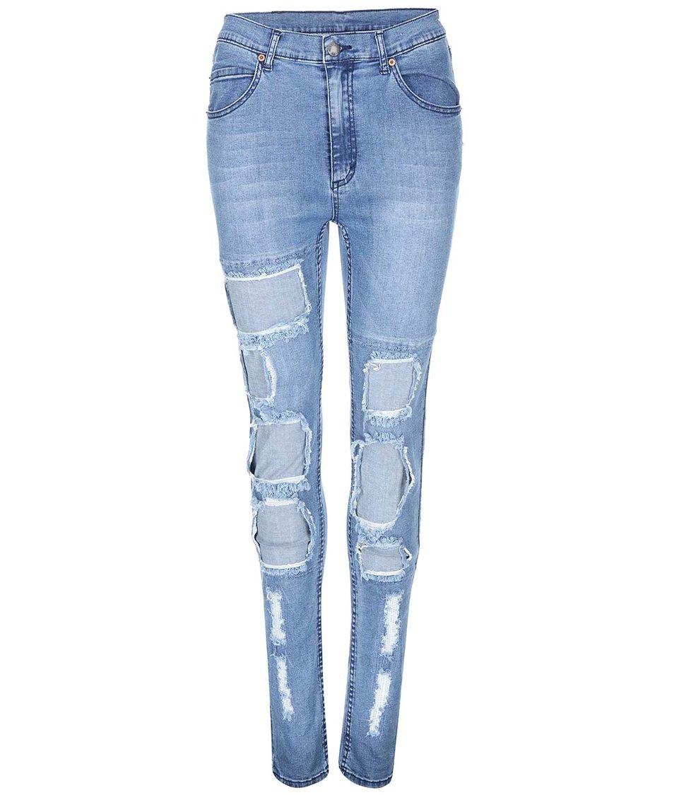 Světle modré dámské roztrhané džíny Cheap Monday Second Skin