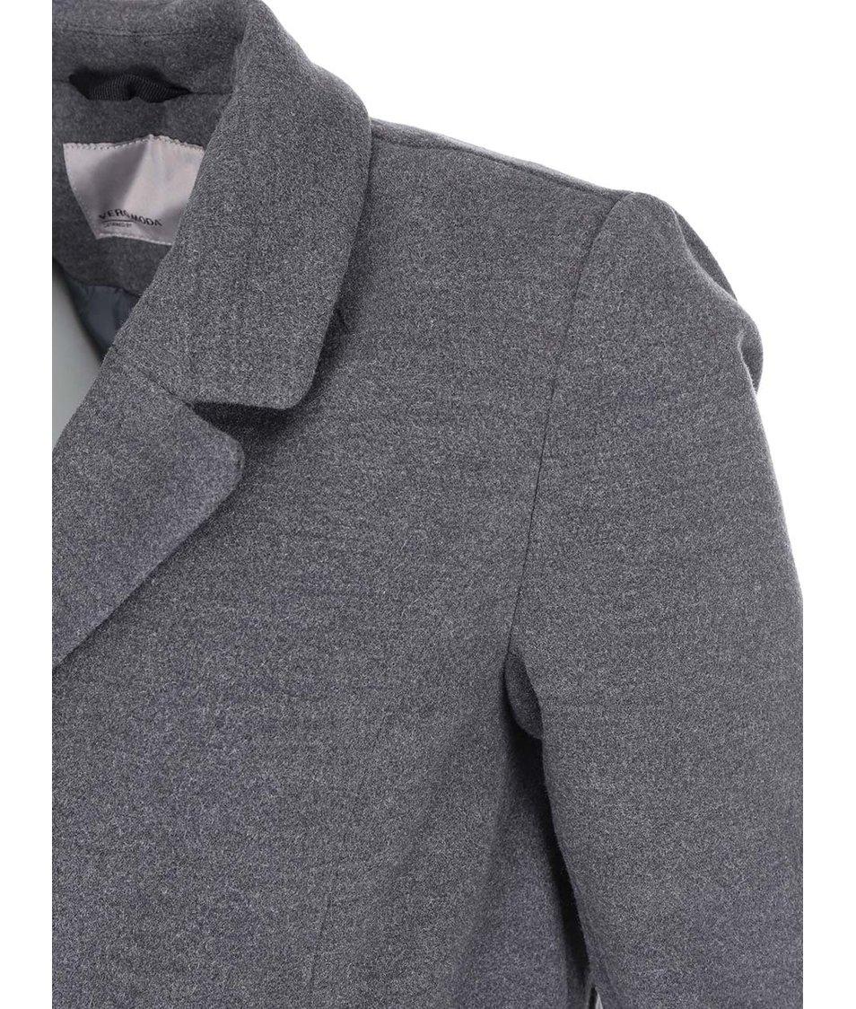 Tmavě šedý kabát Vero Moda City
