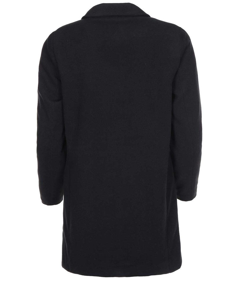 Černý kabát s leopardí podšívkou Vero Moda City