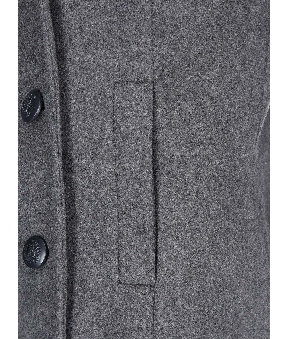 Šedý kratší kabát Vero Moda Jane Daisy